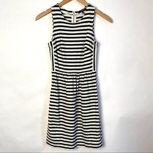 Madewell Striped Sleeveless Midi Dress XXS